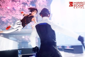 Mirrors Edge Girl Running On Wall Wallpaper