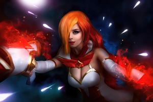 Miss Fortune League Of Legends Cosplay Girl 4k Wallpaper