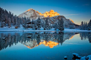 Misurina Lake Reflections Wallpaper