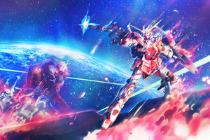 Mobile Suit Gundam Unicorn Anime 4k Wallpaper