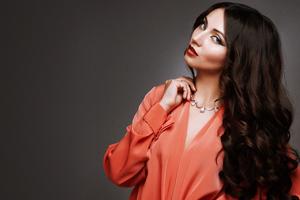 Model Glance Long Hair Looking At Viewer 5k Wallpaper