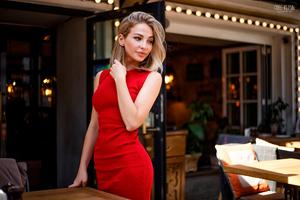Model Holding Her Hair Wallpaper
