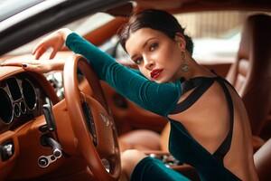 Model In Car