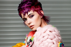 Model With Cerise Pink Hair