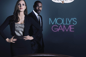 Mollys Game 2017 Jessica Chastain Idris Elba Poster Wallpaper