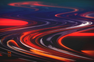 Molten Swirls Abstract 4k