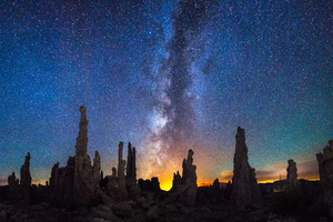 Mono Lake Near Mammoth Lakes California Milky Way Wallpaper