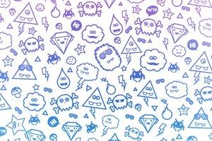 Monster Background Icons Wallpaper