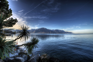 Montreux Lake Switzerland 4k