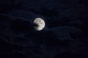 Moon Behind Clouds 5k
