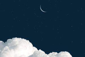 Moon Clouds 4k Wallpaper