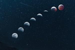 Moon Dunescape 5k Wallpaper
