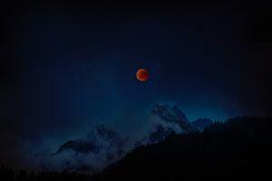 Moon Eclipse 8k
