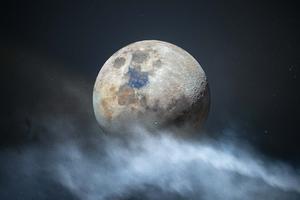 Moon In Clouds 4k Wallpaper
