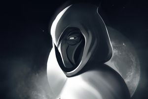 Moon Knight Monochrome 4k Wallpaper