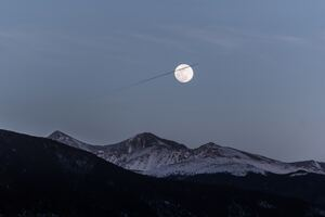 Moon Over Snowy Mountains 5k