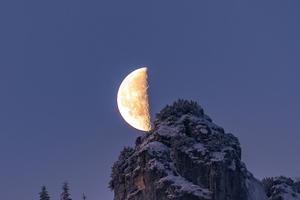 Moon Over The Bavarian Alps 4k Wallpaper
