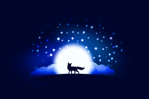 Moon Shining Fox Artwork