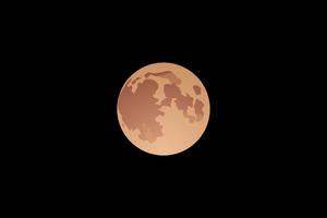 Moon Vector 4k Wallpaper