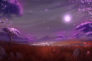 Moonlit Plains Wallpaper