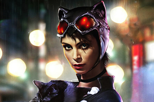 Morena Baccarin As Catwoman 4k Wallpaper