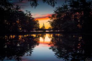 Morning Glow Reflection Lake
