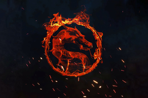 Mortal Kombat Fire Logo 4k Wallpaper
