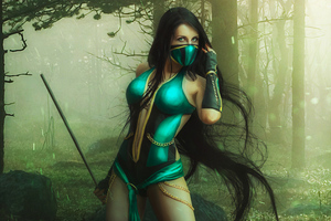 Mortal Kombat Jade Cosplay 4k Wallpaper