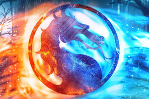 Mortal Kombat Movie Fire And Ice Logo 4k