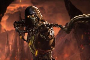 Mortal Kombat Scorpion 5k Wallpaper