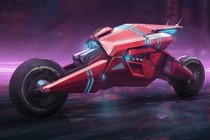 Moto Cyberpunk Bike Wallpaper
