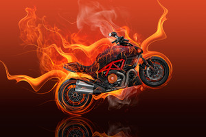 Moto Ducati Diavel Flame Wallpaper
