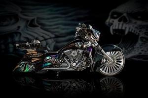 Motorcycles Bike Design Airbrush Wallpaper