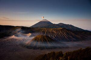 Mount Bromo Volcano 4k