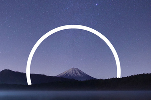 Mount Fuji Abstract Vs Nature