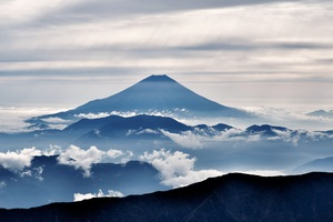 Mount Fuji Landscape Clouds