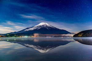 Mount Fuji Night Reflections