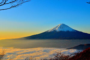Mount Fuji Sunrise 5k Wallpaper
