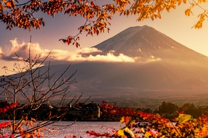 Mount Fuji Volcano Morning 5k