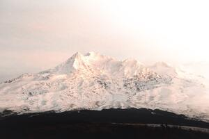 Mount Ruapehu Covered In Snow 4k Wallpaper