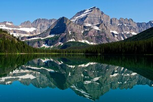 Mountain Lake Reflections Wallpaper