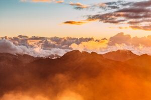 Mountain Range Sea Of Clouds Wallpaper