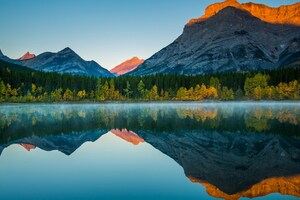 Mountain Reflection In Lake Wallpaper