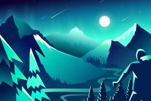 Mountain Scenery Minimalism