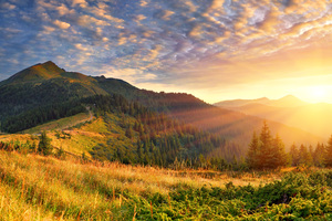 Mountain Scenery Morning Sun Rays 4k Wallpaper