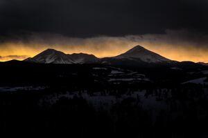 Mountain Shadow Dark Cloud And Light