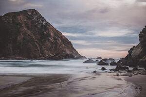 Mountain Shore Beach 4k