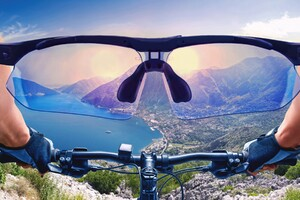 Mountain View On Bicycle Wallpaper