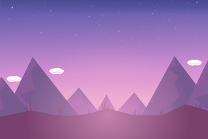 Mountains Clouds Illustration Minimalism