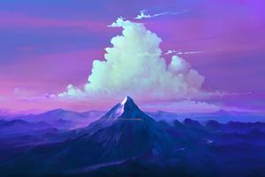 Mountains Clouds Landscape 4k